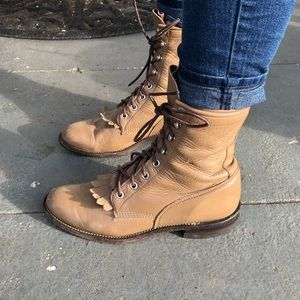 Vintage Justin leather boots Size 6